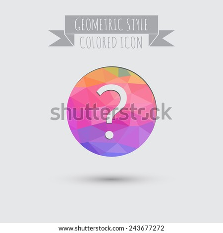 the question mark sign. - stock vector