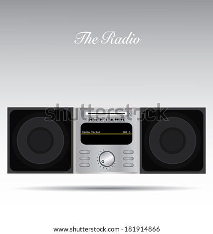 The radio with isolated background. - stock vector
