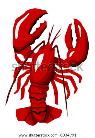 The Red Lobster is highly detailed original artwork.  The vector file is in easy edit layers and is AI-EPS8 format.