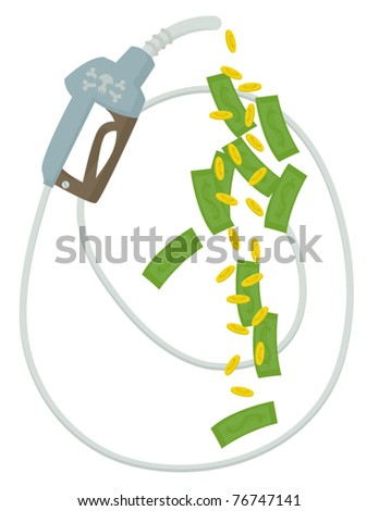 The rising cost of fuel. - stock vector