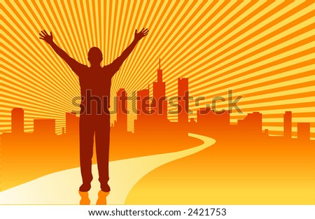 The road to success - VECTOR - stock vector