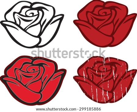 the roses - stock vector