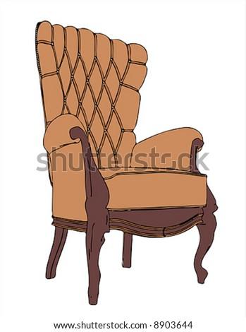 the royal vector armchair - stock vector