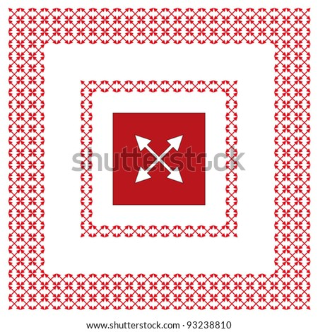 The sample two arrows in an environment of small arrows - stock vector