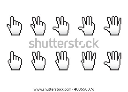 The score with the cursor fingers