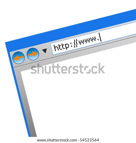 The screen of the monitor on a white background - stock vector