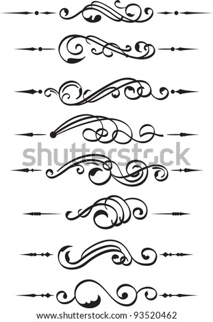 The set of divide book pieces on white - stock vector