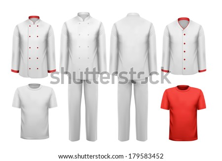 The set of various work clothes. Vector illustration. - stock vector