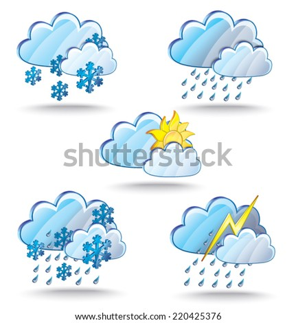 The set of Weather icon - stock vector