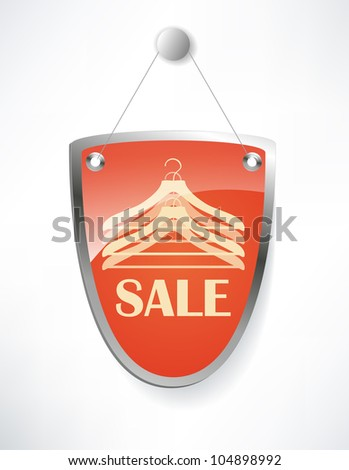 The shield, sale sign. - stock vector