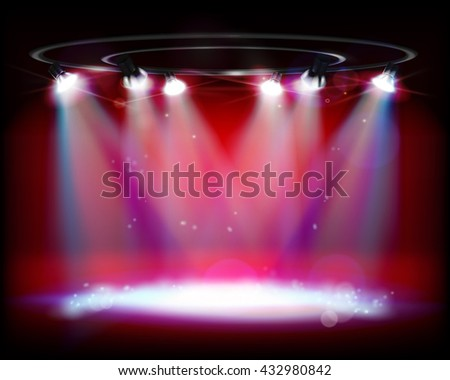 The show on the stage. Vector illustration. - stock vector