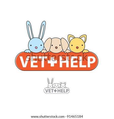 The sign of veterinary care. Vet-help. Vector symbol. - stock vector