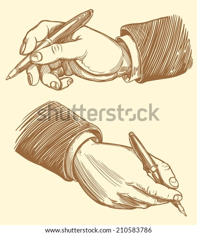 the signing of the cooperation agreement of the parties. Monochrome Engraving. Vector illustration 8 eps. - stock vector
