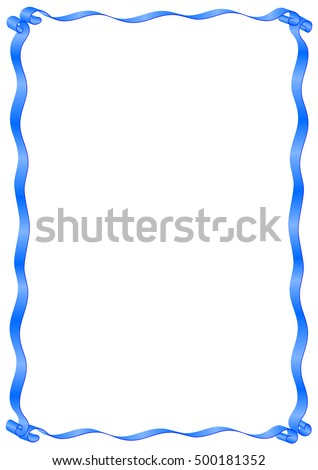 The Simple Frame And Border Of Ribbons Vector