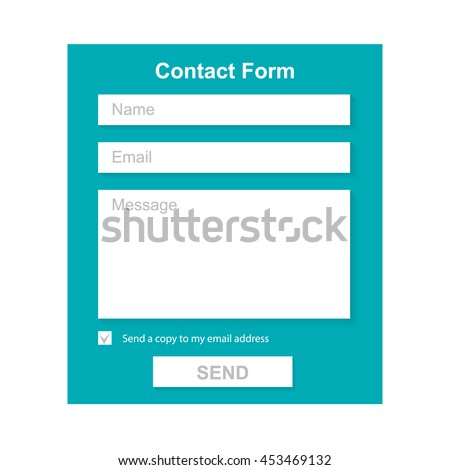 The Simple Gray Contact Form. Web Site Design.