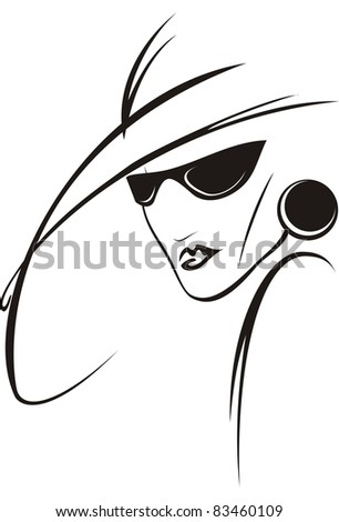 The simplified figure the woman - stock vector
