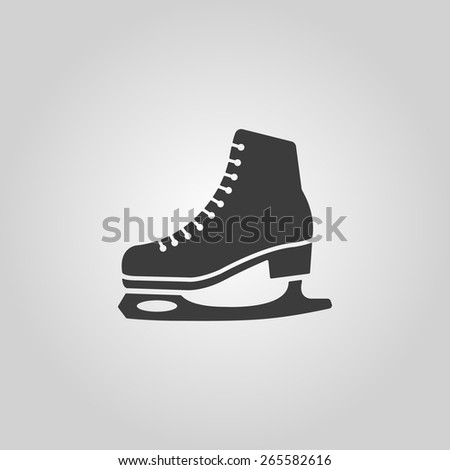 The skates icon. Figure skates symbol. Flat Vector illustration - stock vector