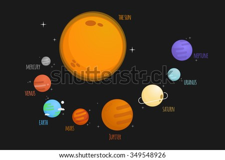 The solar system vector illustration - stock vector