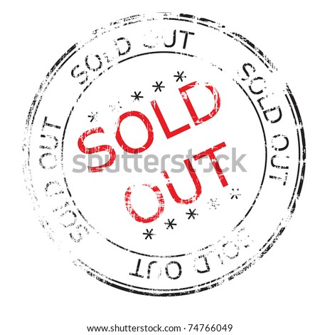 the sold out grunge stamp vector illustration - stock vector