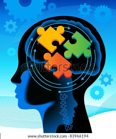 The solution of complex tasks of.the concept of solving problems - stock vector