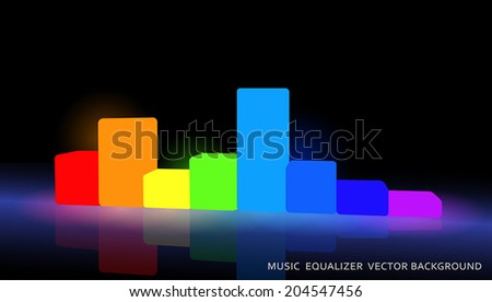 the sound lights - stock vector