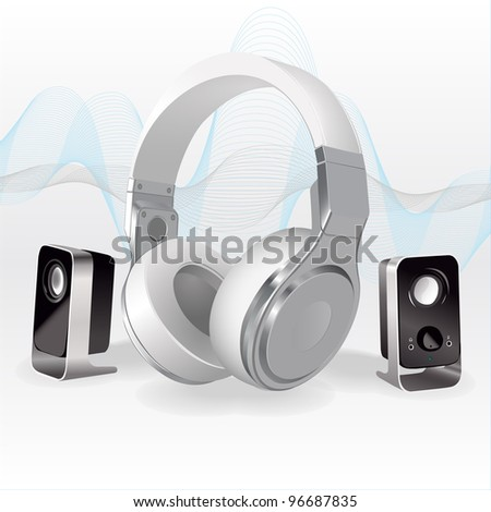 The Sound Waves - stock vector