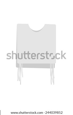 The special fringes, called tzitzit - stock vector