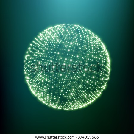 The Sphere Consisting of Points. Global Digital Connections. Abstract Globe Grid. Wireframe Sphere Illustration. Abstract 3D Grid Design. A Glowing Grid. 3D Technology Style. Networks - Globe Design. - stock vector