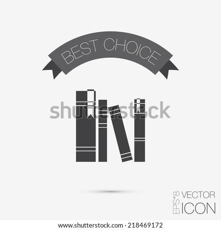 book spine spines books icon symbol stock vector  the spines of books icon symbol of a science and literature