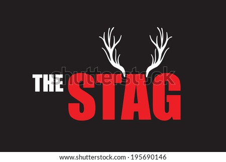 the stag  - stock vector