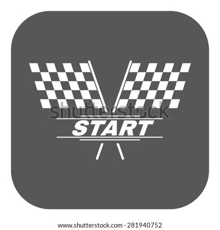 The start icon. Start symbol. Flat Vector illustration. Button - stock vector