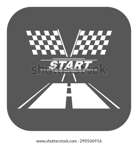 The start icon. Start symbol. Flat Vector illustration. Button Set - stock vector