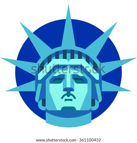 The Statue of Liberty - stock vector