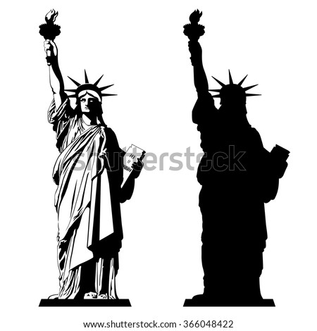 The Statue of Liberty. Vector illustration