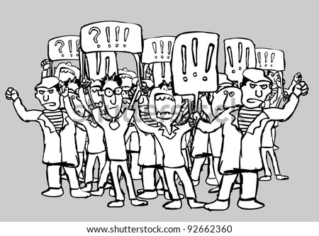 The striking workers - stock vector