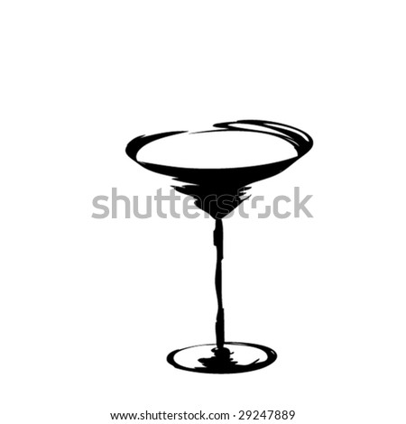 The stylized glass for martini (vector) - stock vector