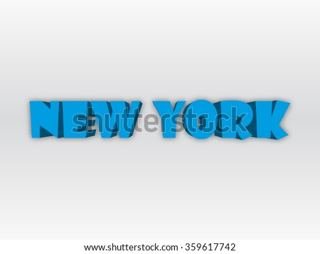 The stylized logo of New York. Design drawing.