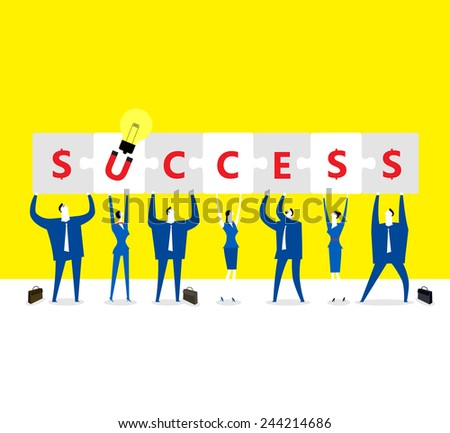 The success people - stock vector