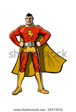 the superhero - stock vector