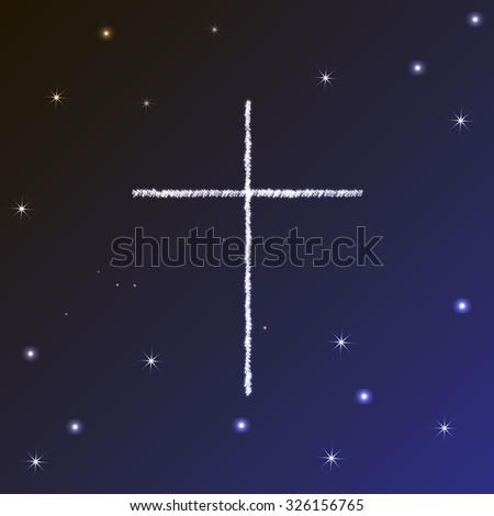 Symbol Christianity Christian Cross Stock Vector 326156765