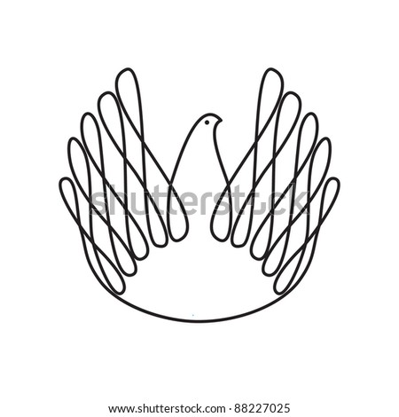 The symbol of peace and love - dove of peace. Vector sign. - stock vector