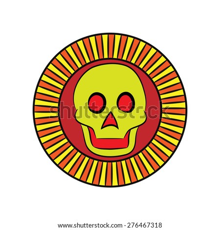 Symbol Ancient Aztecs Sun Death Ancient Stock Vector 276467318