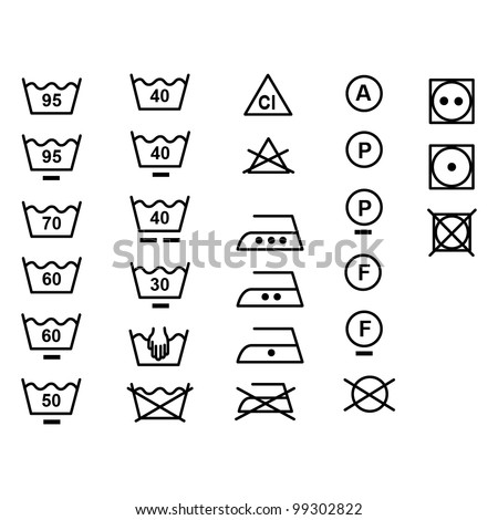 Symbols Care Clothing Stock Vector 99302822 Shutterstock