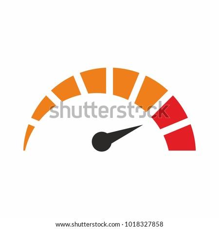Tachometer Speedometer Indicator Icon Speed Sign Stock ... Tachometer Logo