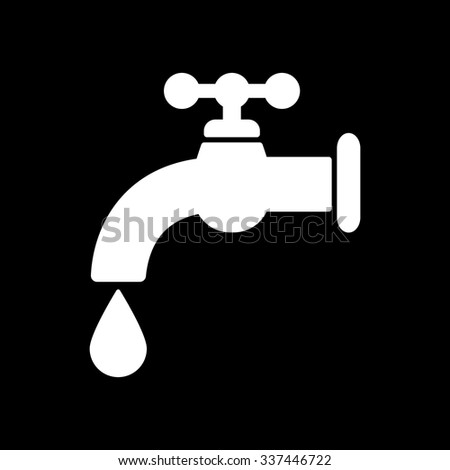 The tap water icon. Water symbol. Flat Vector illustration
