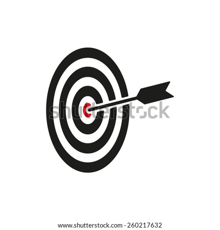The target icon. Target symbol. Flat Vector illustration. Button Set - stock vector