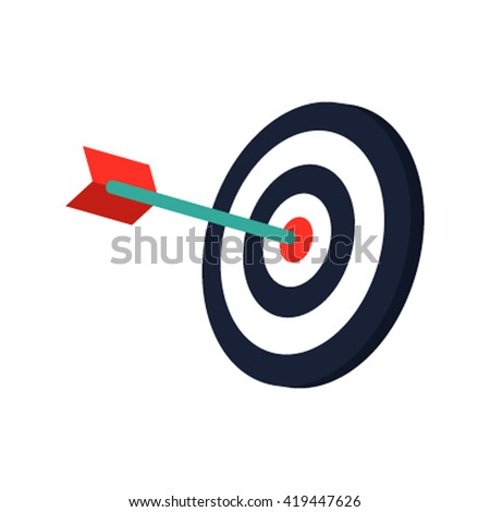 The target volume icon for the web. Vector illustration isolated on white background - stock vector