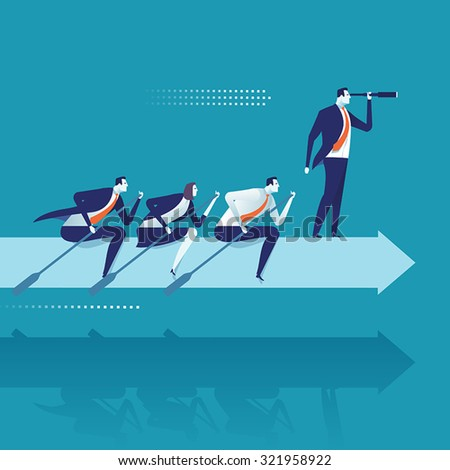 The team. Business vector illustration - stock vector