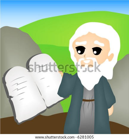 The Ten Commandments - Vector - stock vector