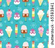 The texture of funny ice cream - stock vector